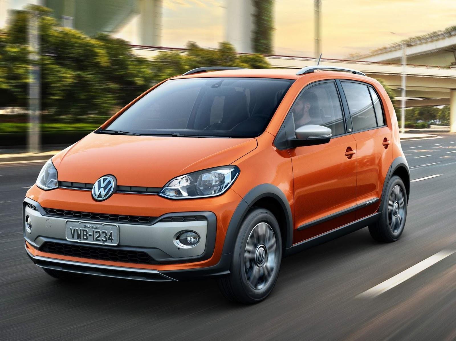 carro do modelo cross up na cor laranja